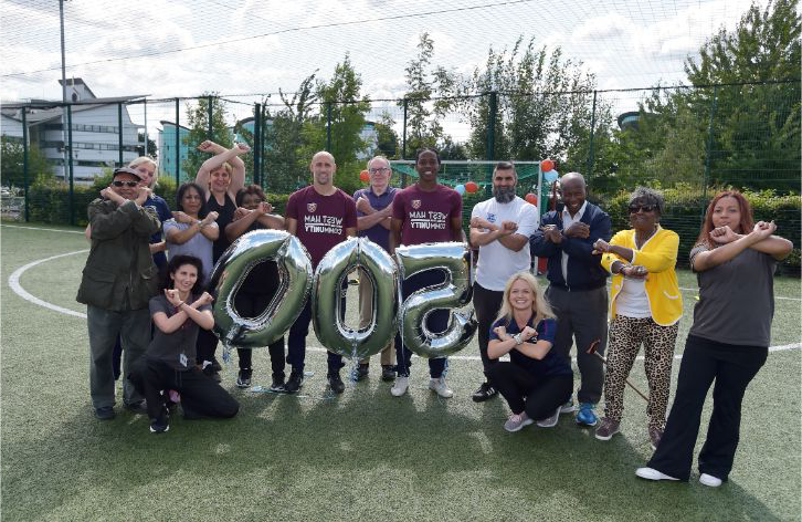 The 150Club celebrated 500 completers with a surprise visit from Zabaleta & Sanchez
