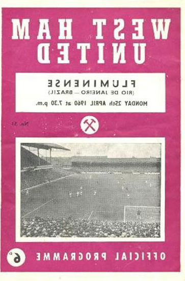 Fluminense programme cover from 1960