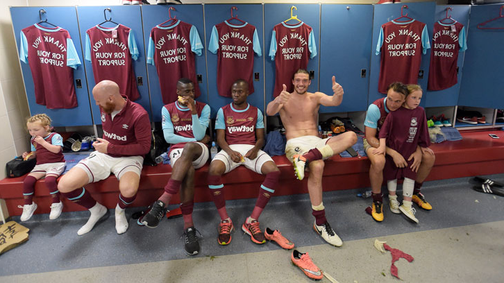 Inside the dressing room after the final game at the Boleyn Ground
