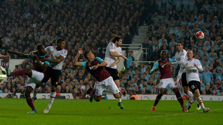 Winston Reid scores in the final game at the Boleyn Ground