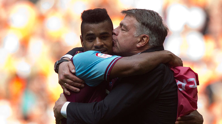 Big Sam kisses Vaz Te