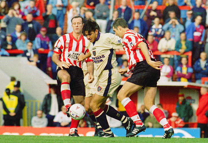 Sunderland away in September 1996