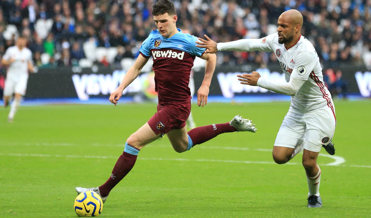 Declan Rice holds off David McGoldrick