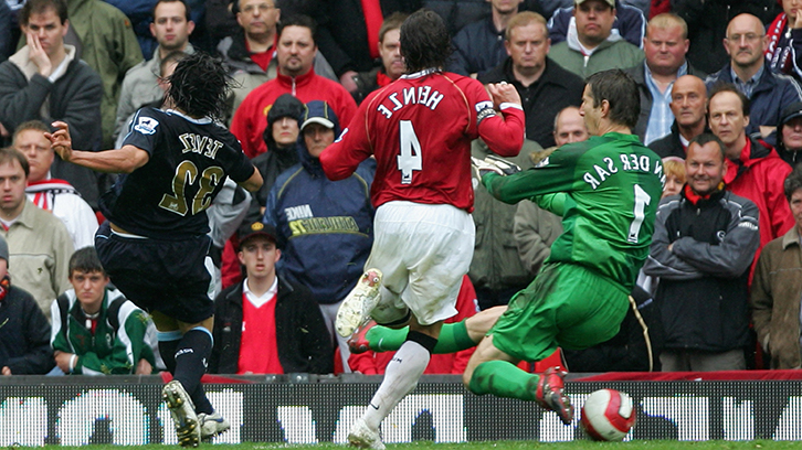 Carlos Tevez's goal for West Ham against Manchester United at Old Trafford