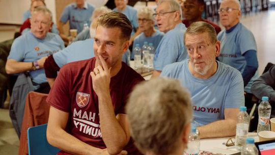 Adrian with members of Any Old Irons