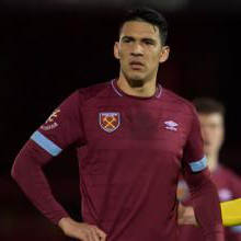 Fabian Balbuena in action against Blackburn Rovers U23s