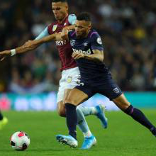 Ryan Fredericks in action against Aston Villa