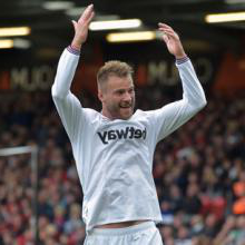 Andriy Yarmolenko celebrates at AFC Bournemouth