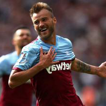 Andriy Yarmolenko celebrates scoring against Norwich