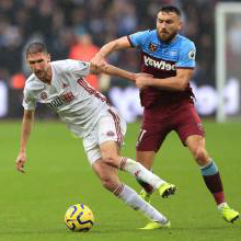 Robert Snodgrass in action against Sheffield United