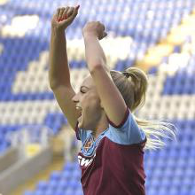 Alisha Lehmann celebrates her goal against Reading