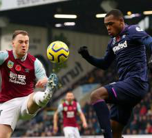 Issa Diop challenges Ashley Barnes