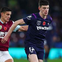 Declan Rice holds off Ashley Westwood