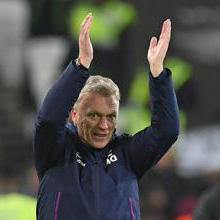 David Moyes celebrates the win over Bournemouth