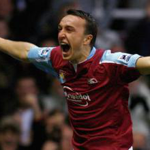 Noble celebrates scoring against Brighton in 2007