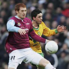 James Collins in action at Norwich