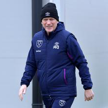 David Moyes in 新万博体育 training