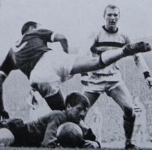 Bobby Moore and Jim Standen thwart Liverpool