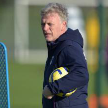 David Moyes on the training pitch
