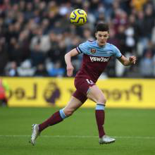 Declan Rice in action against Brighton