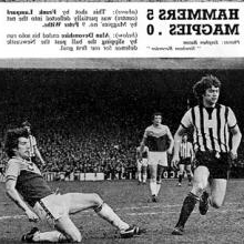 Alan Devonshire puts West Ham in front