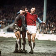 Jimmy Greaves and Geoff Hurst