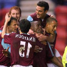 NIgel Reo-Coker celebrates his last-gasp winner at Wigan