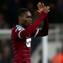 Diafra Sakho celebrates the win over Sunderland in March 2015