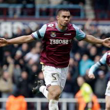 Winston Reid celebrates his goal against Millwall