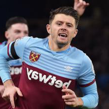 Aaron Cresswell celebrates scoring at Chelsea in November 2019