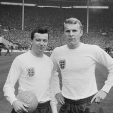 Johnny Byrne and Bobby Moore at Wembley