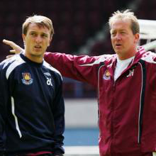 Alan Curbishley and Mark Noble