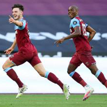 Angelo Ogbonna and Declan Rice