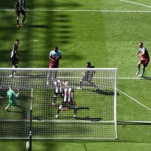 Tomas Soucek scores for the Hammers at Newcastle