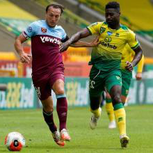 Mark Noble in action at Norwich