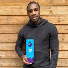 Michai Antonio with the Player of the Month Award