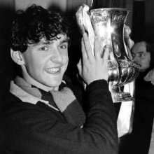Paul Allen with the FA Cup in 1980