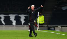 David Moyes celebrates at Tottenham
