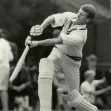 Jim Standen playing cricket