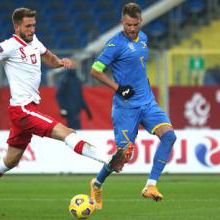 Yarmolenko in action for Ukraine