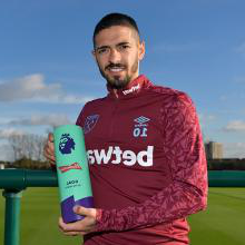 Manuel Lanzini wins Budweiser Premier League Goal of the Month for October