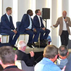 The Hammers legends take part in a Q&A