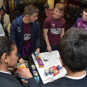 Dan Kemp and Aaron Cresswell with the Players' Project