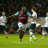 Michail Antonio celebrates scoring against Tottenham in 2016