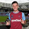Declan Rice celebrates winning Hammer of the Year