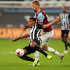 Tomas Soucek in action against Newcastle
