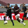 Michail Antonio in action against Man City