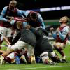 The Hammers celebrate at Tottenham
